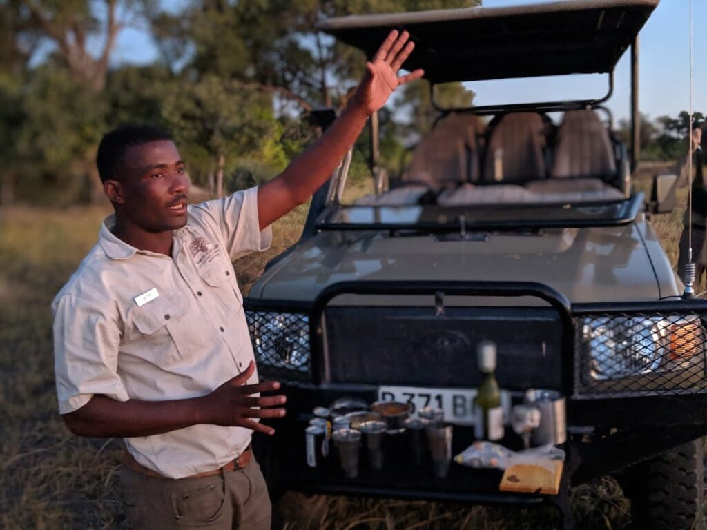 Our Safari guide in Botswana